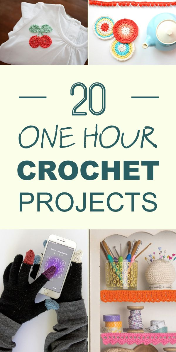 If you have a little bit of time to kill, check out these quick and easy crochet patterns!