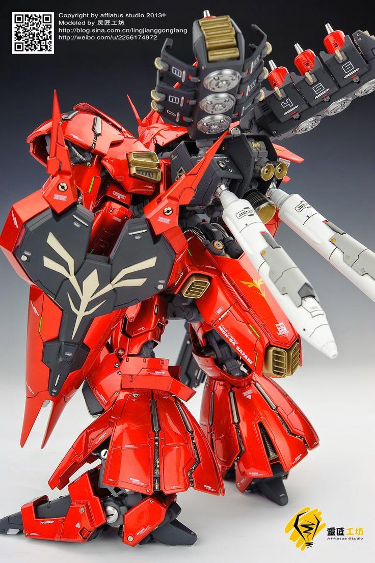 G-System 1/100 MSN-04 Sazabi EVO 2.0 Painted Build - Gundam Kits Collection News and Reviews