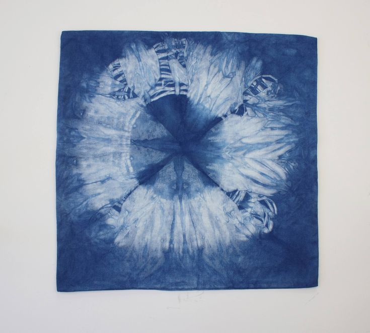 Indigo Hand Dyed Tie Dye Small Pillow Cover Pattern Home Decor Beach House Warming Dorm Wedding Gift Tie Dye 14-16""