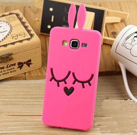 Cute 3d Bunny Rabbit Cartoon Case for Samsung Galaxy j1 j5 j7
