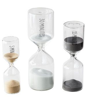 Have important work to complete but only a short time to do it? Use one of these sand timers to keep you on track and ensure that you are maximizing every second.