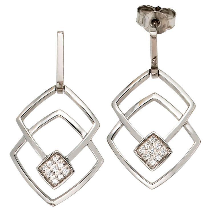 Ohrhänger 585 Gold Weißgold 18 Diamanten Brillanten Ohrringe Ohrstecker A36208 http://www.ebay.de/itm/Ohrhaenger-585-Gold-Weissgold-18-Diamanten-Brillanten-Ohrringe-Ohrstecker-A36208-/151803283287?ssPageName=STRK:MESE:IT