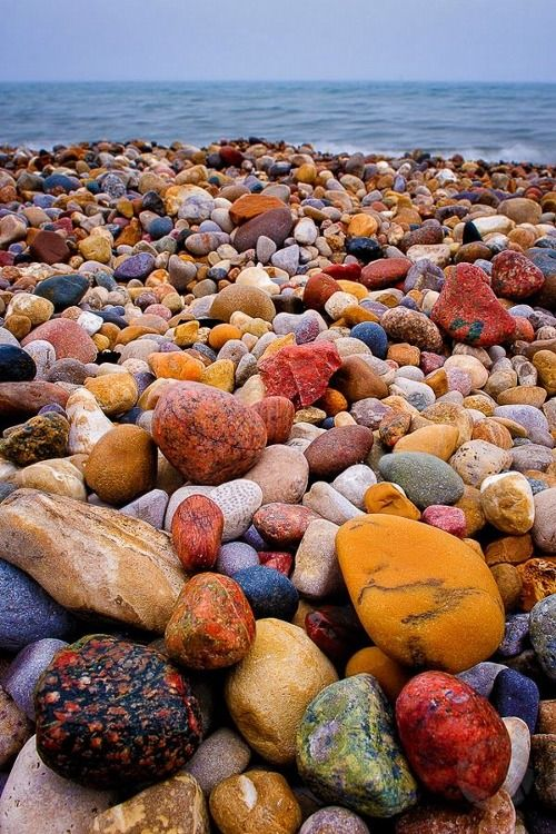 Colorful Shore of Lake Huron Beach, Ontario Canada