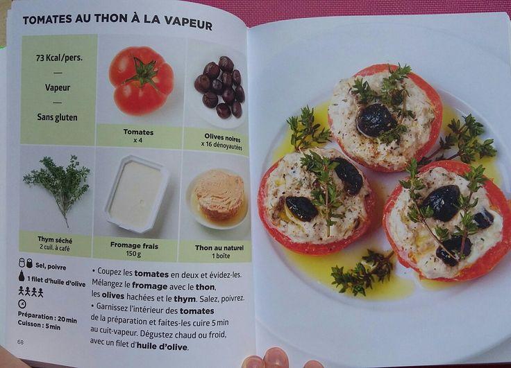 Tomates aux thon à la vapeur