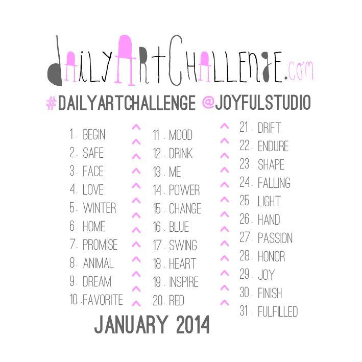 Daily Art Challenge, January 2014
