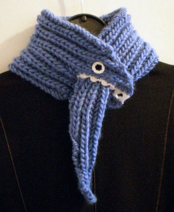 Monster Scarf - Blue - Wool Blend Wool, Scarf ideas and Boys