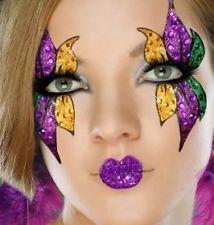 mardi gras makeup - love the lips!