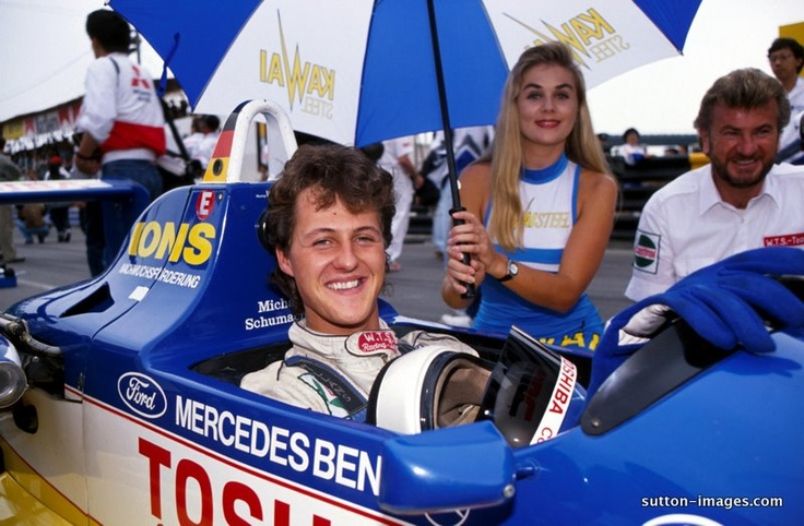 Willi Webber and Michael Schumacher young