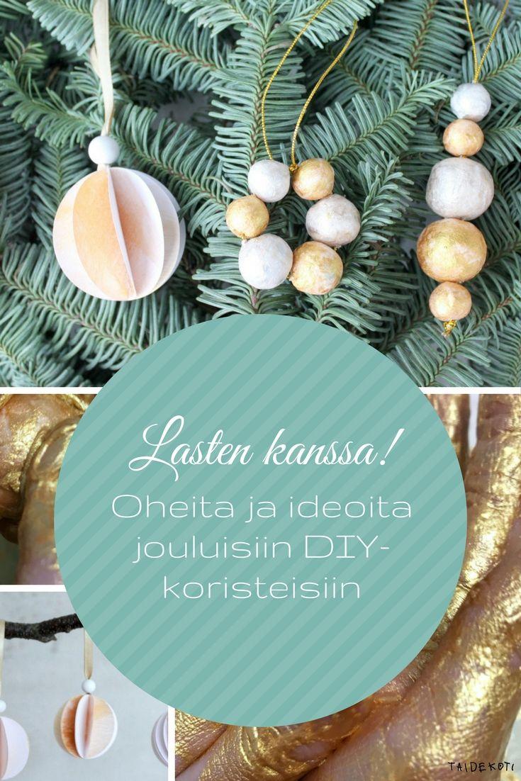 Jouluaskartelua lasten kanssa / DIY-kuusenkoristeet