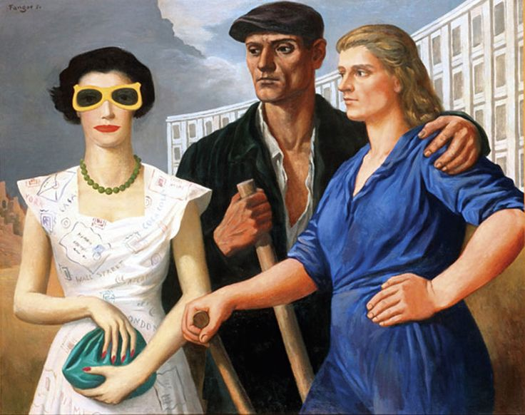 Wojcieh Fangor, Postaci (Figures), 1950, Muzeum Sztuki w Łodzi