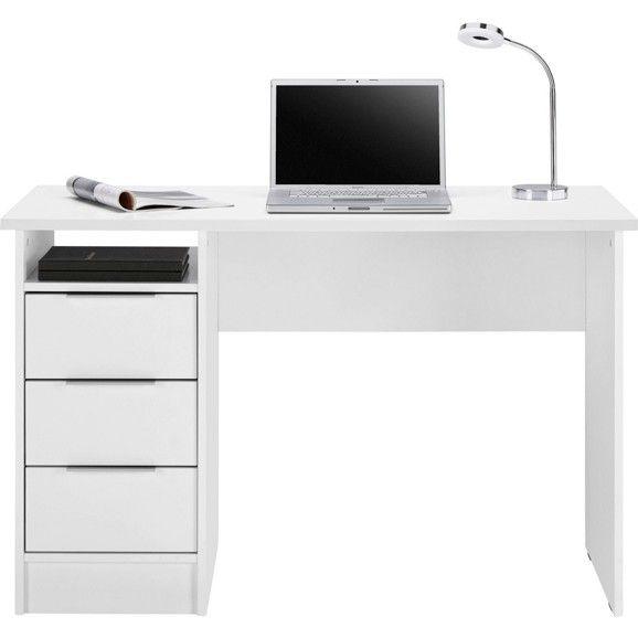 Dieser Schicke Schreibtisch In Weiß Bietet Ihnen Einen Praktischen  Arbeitsplatz Für Ihr Zuhause Und Lässt Sich