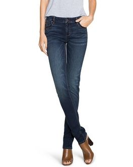 "Our can't-live-without, slim jeans now made with an amazing stretch, serious softness and deeper dark wash for an elevated look.    Classic rise   Fits slim from hip to shoe    Cotton/polyester/rayon/spandex. Machine wash, cold.   Approx. inseams: 29.5"" short, 32"" regular, 34"" long.    Imported."