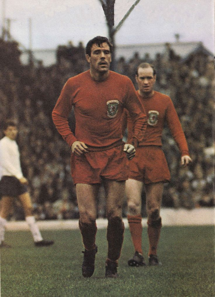 21st October 1967. Wales duo Mike England and Terry Hennessey during their…