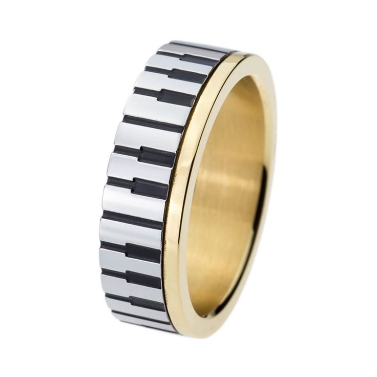 Piano Key Board Ring Stainless Steel Wedding Engagement For Music Lovers Jewelry #Unbranded #Uniquetrendyfashion #Wedding