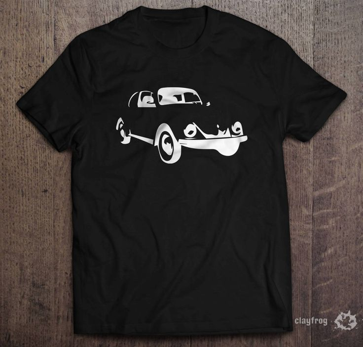 VW Beetle sillhouette / Novelty Themed Mens Black T-Shirt by Clayfrogs on Etsy