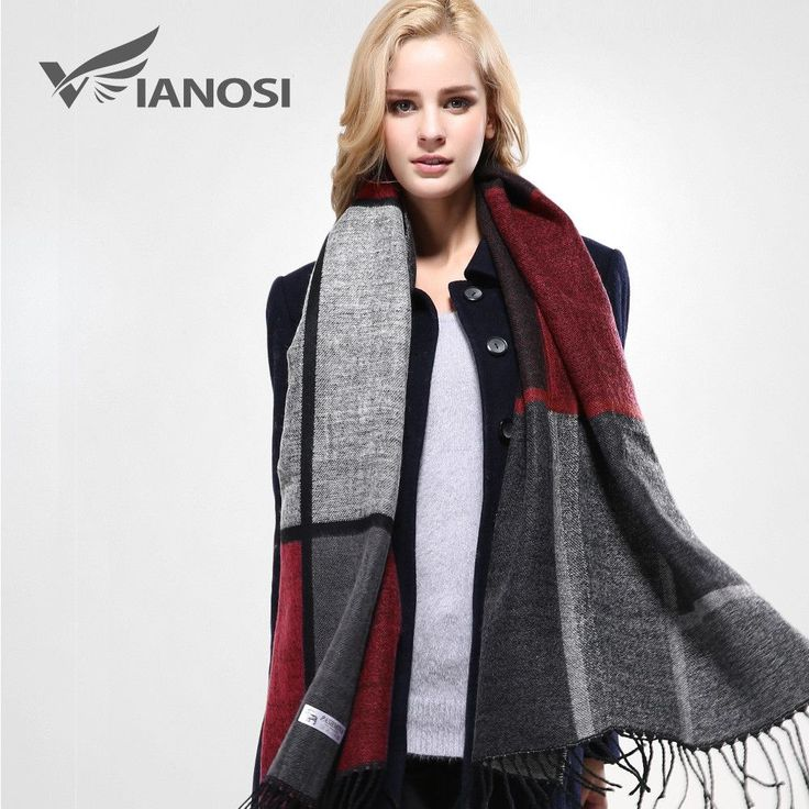 [VIANOSI] 2016 Stylish Warm Blanket Scarf Woman Gorgeous Wrap Long Tassel Plaid Thick Brand Shawls and Scarves for Women VA089
