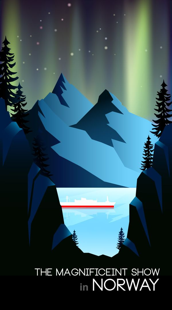 Travel Poster - Norway - by Boram Park.
