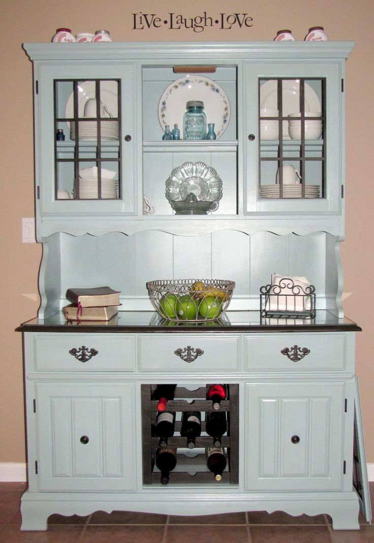 Painted (Refurbished) China Hutch - my first furniture makeover! 8/11  What do you think??