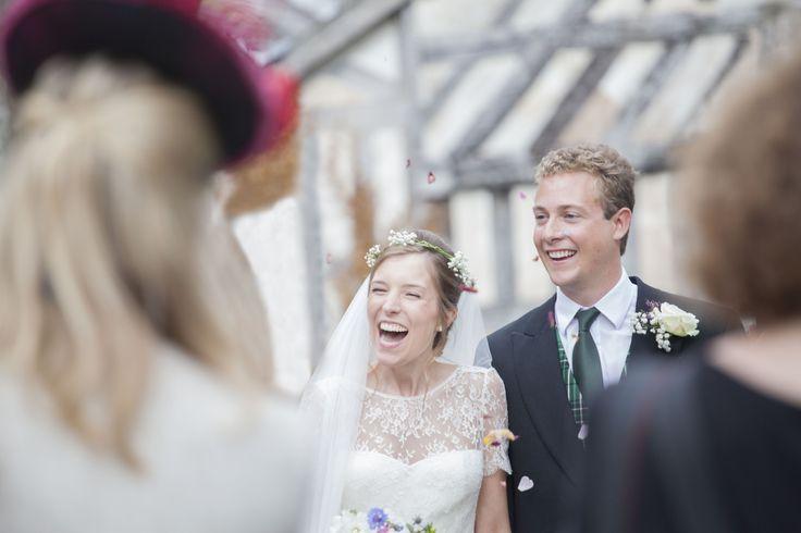 #weddingphotography #countrywedding #bride #relaxedweddingphotos #confettishot #justmarried - Shropshire Wedding 2014
