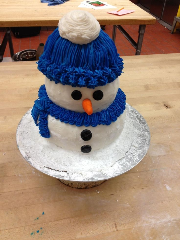Snowman Cake  on Cake Central                                                                                                                                                                                 More