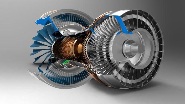 pratt and Whitney turbofan engine(pure power 1000G)
