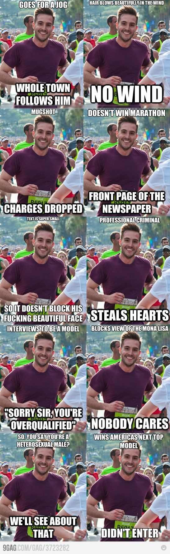 I'd make this guy a sandwich. ( ridiculously photogenic runner)