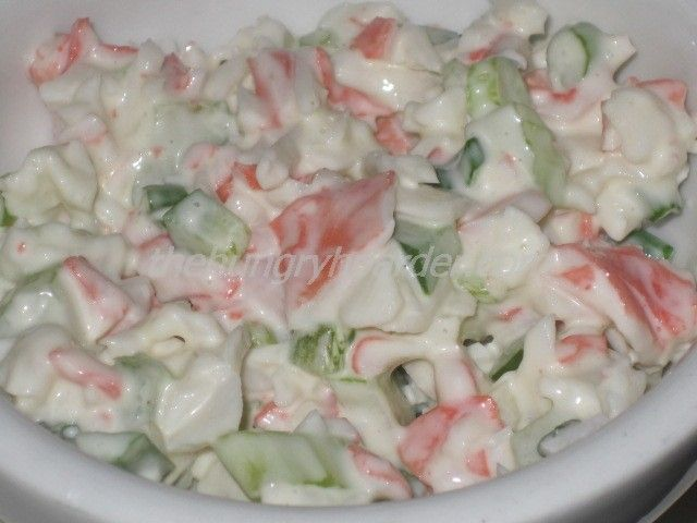 Golden Corral Seafood Salad Copycat - This is one of the dishes that kept me going back to Golden Corral. I pile a large heaping serving on my plate every time I go. Now, I can make it at home instead.