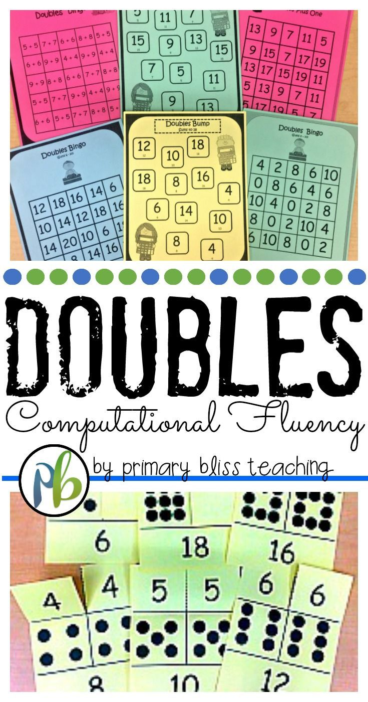 17 Best Ideas About Doubles Facts On Pinterest Doubles