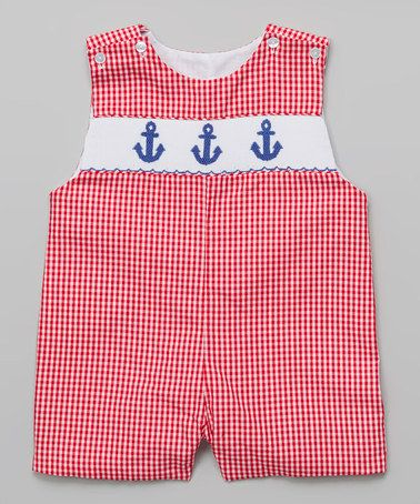 Another great find on #zulily! Red Gingham Anchor John Johns - Infant & Toddler #zulilyfinds