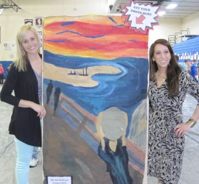 Lake and Hartville Elementary Art -- great Photo Booth idea for Art Auction or Art Show activity. Raise some extra funds?!