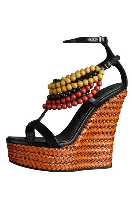 Beaded wedges- LOVE!: Spring2012 Burberryprorsum, Sandals Wedges, Fashion Week, Shoes Tribal, Burberry Prorsum, Burberryprorsum Shoes, Beads Wedges Could, Spring 2012, Tribal Wedges