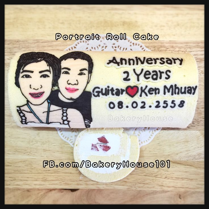 Portrait Painted Roll Cake  Made-to-Order Roll Cake at #BakeryHouse101 Bangkok Thailand   ✏️ www.facebook.com/BakeryHouse101 ✏️ Instagram: BakeryHouse101