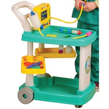 Medical cart for the child who loves to play doctor