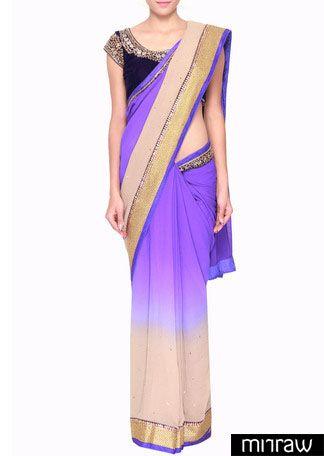 Gorgeous shaded blue saree
