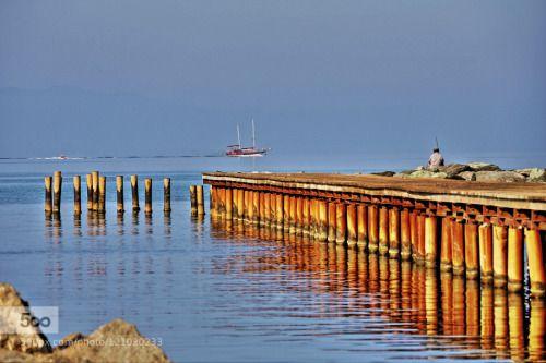 Efes Pamucak Sahili İskele by Sercan_cipli  balıkçı beach blue deniz doğa efes ephesus iskele izmir liman manzara pamucak sahil selçuk tekne tür