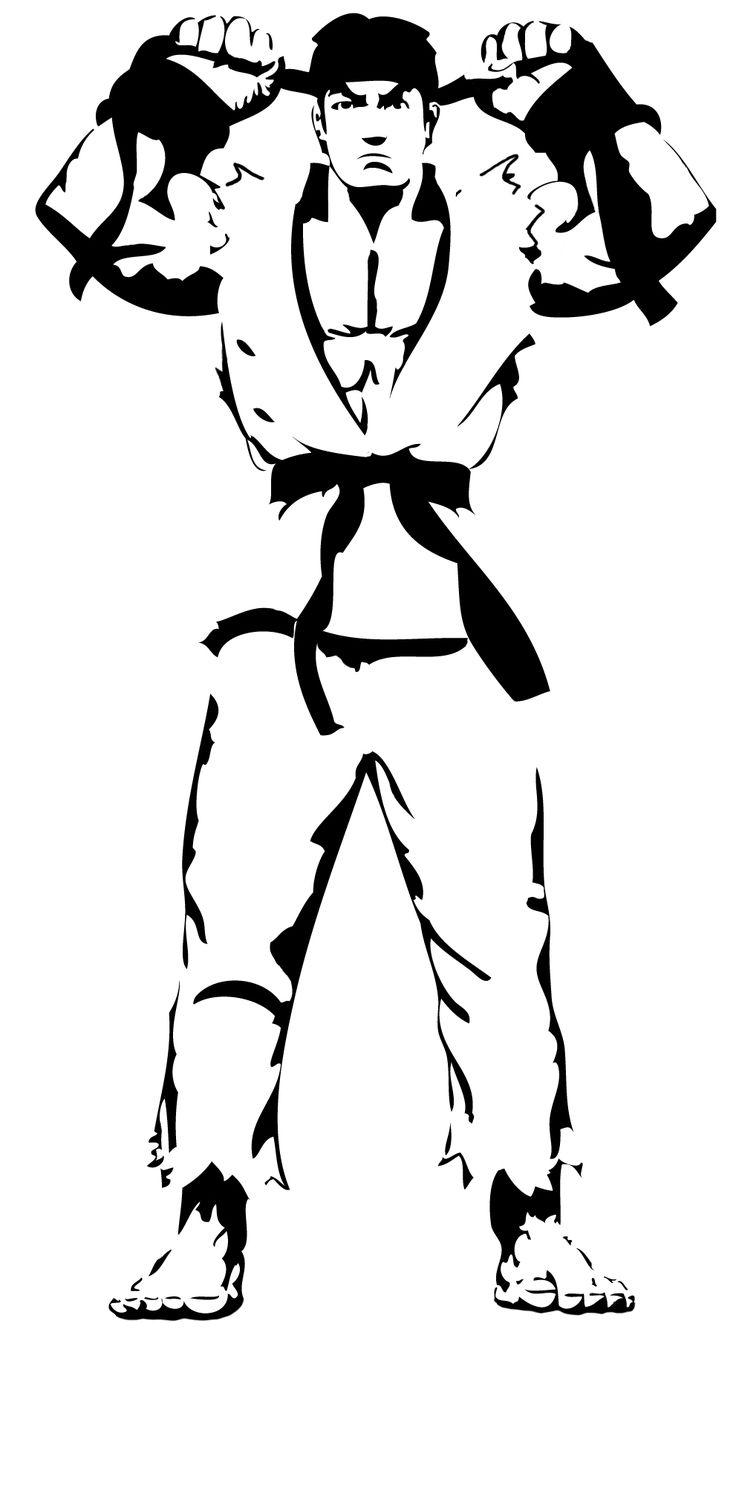 Street fighter Ryu stencil by ~Branbot