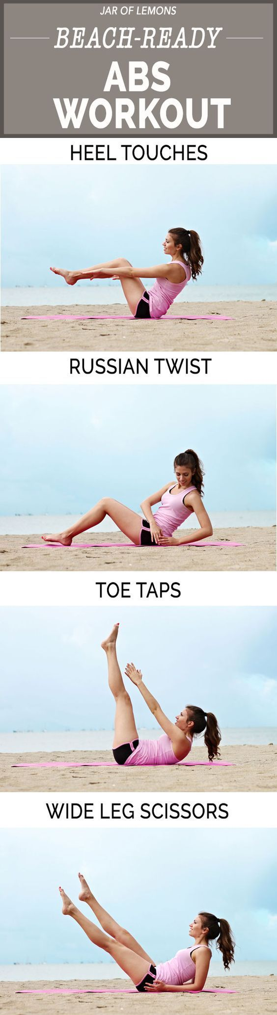 Beach-Ready Abs Workout! Do this workout once a week to get the summer abs you've been looking for!
