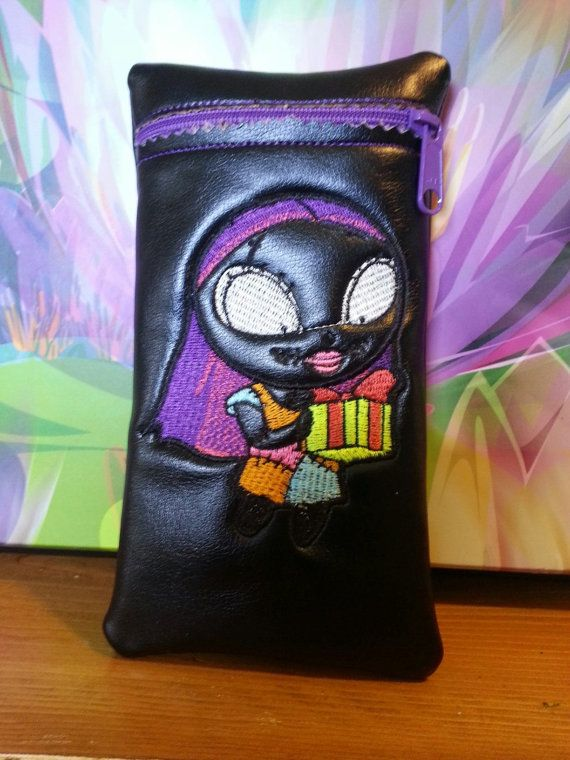 Custom glass pipe pouch with sally from by RedNeckRagsCreations, $14.00