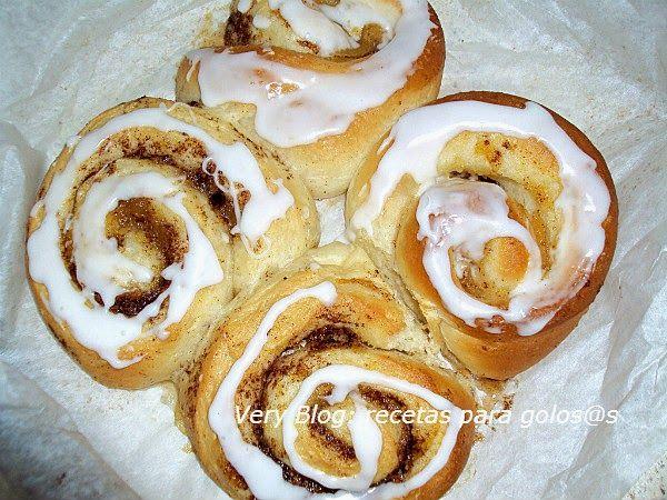 Cinnamon rolls, rollos de canela. Recetas para golosos y golosas :D