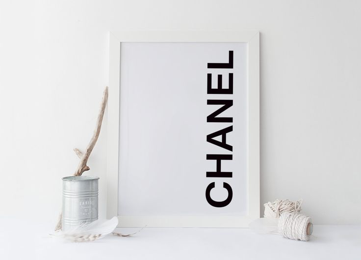 COCO CHANEL print, printable art poster, coco chanel art, poster art, typography…