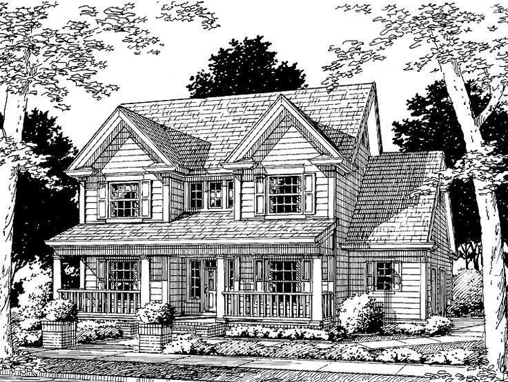 Country House Plan With 1682 Square Feet And 3 Bedrooms