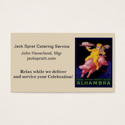 #CATERING SERVICE BUS CARD - #office #gifts #giftideas #business