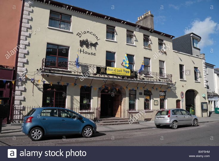 Stock Photo The Front Facade Of Bianconi House Hearn S Hotel In Clonmel County Tipperary Ireland Eire