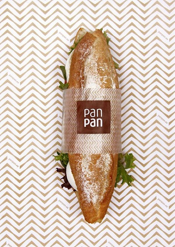 Sandwich Band. Good inspiration for wrapping a sandwich as a gift or for an event.