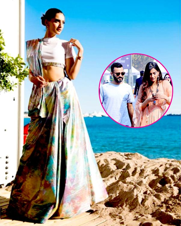 Boyfriend Anand Ahuja helped Sonam Kapoor decide her outfit for Cannes 2017! How perfect are these two? #FansnStars