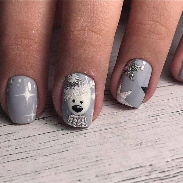 Winter Manicure 2020 2021 Trendy Winter Nail Art Design