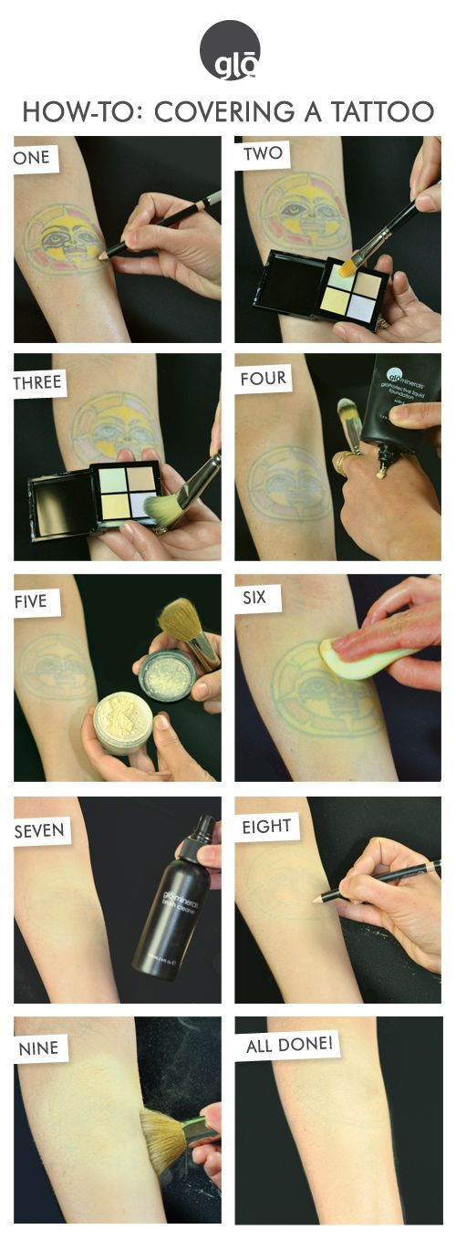Tattoos can be hard to cover up! This is a step by step tutorial of how to conceal your tattoo with makeup from glo minerals.