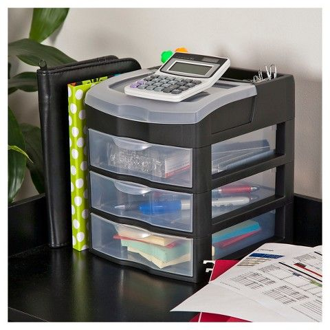 Sterilite 3 Drawer Desktop Storage Unit