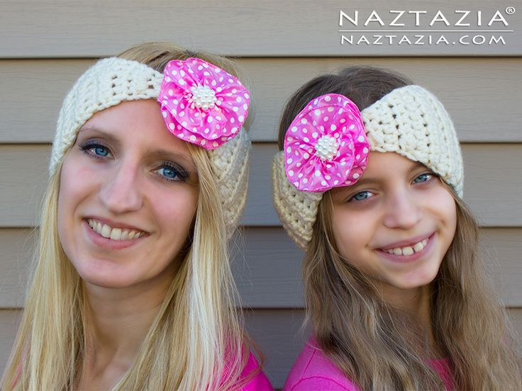 Crochet Hair Band Youtube : ... Ribbon Flower and Crochet Head Hair Bands by Donna Wolfe from Naztazia