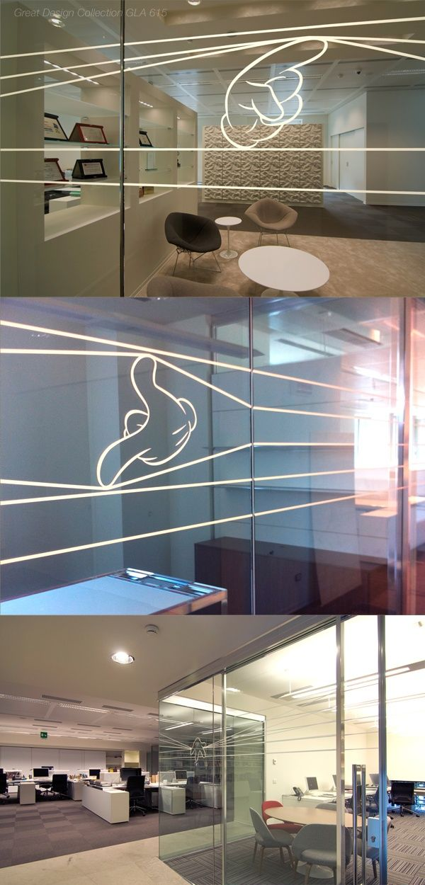 glass wall graphic. I See You!